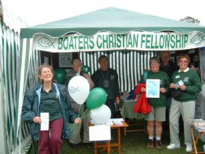Boaters' Christian Fellowship - witness on the towpath.